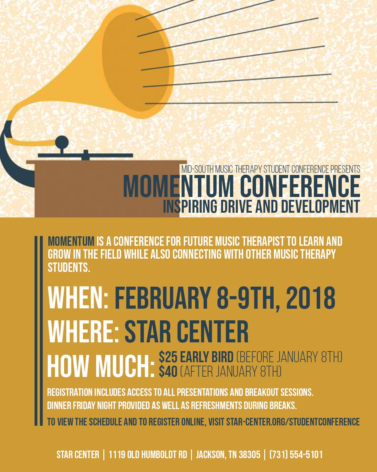 Momentum Conference February 8-9th, 2019. Follow link for information.